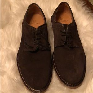 MASSIMO DUTTI DARK BROWN SUEDE LACE UP SIZE: USA 7